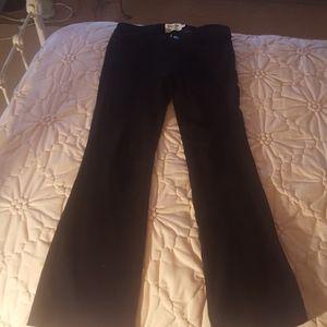 Frame denim black lamb suede pants. Size 26